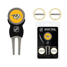 NHL Nashville Predators Logo Divot Tool  Ball Marker Set * More info could be found at the image url.