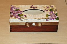 Box a muchoir - Simona Jasinkova Decopage, Decoupage Box, Tissue Box Covers, Tissue Boxes, Jewellery Boxes, Quilling, Repurposed, Diy And Crafts, Projects To Try