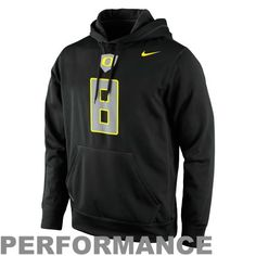 size 40 3a582 f2d74 Nike Oregon Ducks  8 Performance Knock Out Replica Jersey Hoodie - Black
