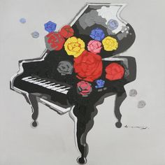 Piano Romance is a modern painting in acrylic strong colors on canvas to decorate living room of your modern room Home Decor Paintings, Art Decor, Piano, Nova, Modern Artwork, Reference Images, Canvas Pictures, Malta, Canvas Art
