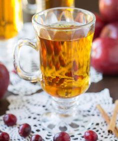 Get the recipe: slow-cooker cranberry apple cider. To serve: reheat over medium heat on the stove top, stir...