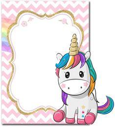 1st Birthday Invitations Girl, Unicorn Invitations, Diy Party Frame, Unicorn Merchandise, Pastel Background Wallpapers, Unicorn Wallpaper Cute, Gift Table Wedding, Rainbow Unicorn Party, Unicorn Themed Birthday