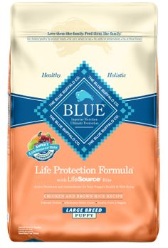 Sale $29.98 - Blue Buffalo BLUE Large Breed Puppy Dog Food, 15 Pounds.