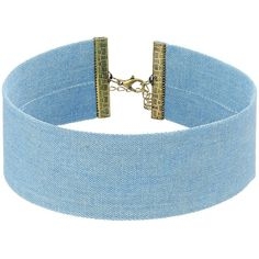 Steve Madden Blue Thick Denim Choker Necklace (Gold) Necklace (59 BRL) ❤ liked on Polyvore featuring jewelry, necklaces, choker, accessories, bijoux, thick choker, thick gold necklace, adjustable gold necklace, gold necklace and chain choker necklaces