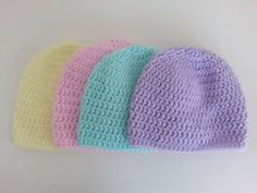 Newborn Baby Hats Newborn beanie by ThePurlandGarter on Etsy, $2.25