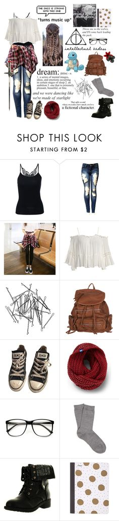 """""""My Style and What I like to Wear"""" by gracie-keaser ❤ liked on Polyvore featuring Jolly Club, Sans Souci, Monki, Converse, Keds, ZeroUV, Falke, Refresh and Mead"""
