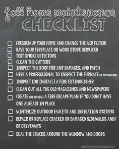 Fall Home Maintenance Checklist Printable You are in the right place about spring home maintenance Here we offer you the most beautiful pictures about the home maintenance company you a
