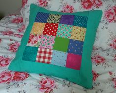 Patchwork cushion in a mixture of Laura Ashley , Cath Kidston  etc fabrics