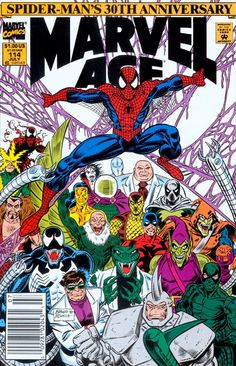 Marvel Age 114, Spidermans 30th Anniversary