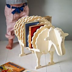 six clever kids room organizers. I love this sheep book case. Baa-Baa Bookshelf for Kids Clever Kids, Kids Fun, Baa Baa, Bookshelves Kids, Handmade Bookshelves, Bookcases, Kids Room Organization, Kid Spaces, Kids Decor