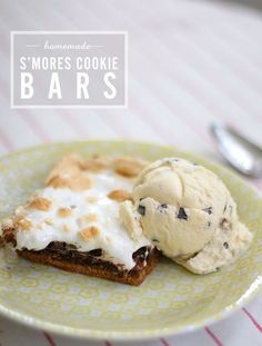 This looks wickedly delicious: homemade s'mores cookie bars recipe from Say Yes to Hoboken