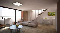 Vizualizácia mezonety - obývačka Stairs, Loft, Bed, Furniture, Home Decor, Ladders, Homemade Home Decor, Stream Bed, Stairway