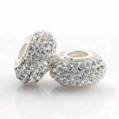 Silver White Sparkling Crystal Bead