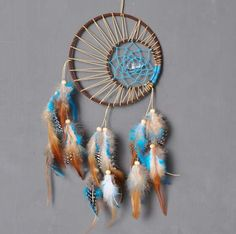 Crystal Dream Catcher Bedroom Decor, wall hanging, Lilac dream Catcher Bohemian Feather Dream Catcher Crochet Dream Catcher