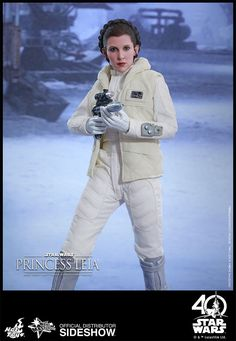 The Hot Toys Princess Leia Sixth Scale Figure is available at Sideshow.com for fans of Carrie Fisher and Star Wars Episode V The Empire Strikes Back.