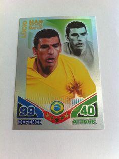 Match Attax 2010 Lucio Brazil Shiny Man of the Match Trading Card
