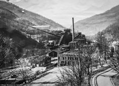 KY, Lynch - pictured around 1940, reached its height in the 30s and 40s. As coal declined and automation was introduced, many miners lost their jobs and Lynch started to shrink as they went elsewhere for work.