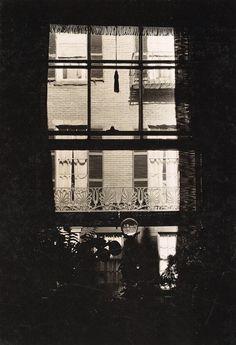 Walker Evans (American, 1903–1975)  Window with Crystal Ball on Sill, West Cedar Street, Boston, Massachusetts  1930-1931
