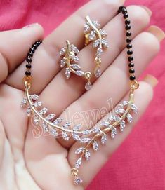1.90CT NATURAL DIAMOND 14K YELLOW GOLD WEDDING ANNIVERSARY MANGALSUTRA SET  #sk_jewels #Choker