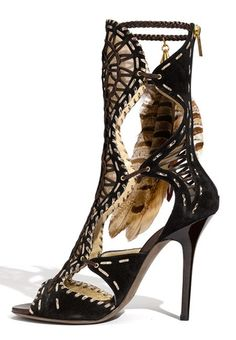 9e123e6b0a38 Jimmy Choo Kevan Feather Trim Gladiator Sandals Magic Shoes