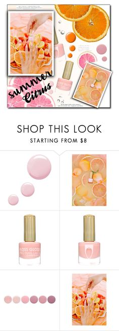 """""""Summer Citrus Nails"""" by selena-gomezlover ❤ liked on Polyvore featuring beauty, Topshop, H&M and Deborah Lippmann"""