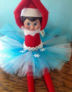 Elsa frozen inspired dress for elf or doll.  by tutuandbow on Etsy