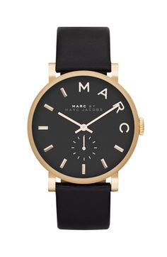 MARC BY MARC JACOBS 'Baker' Leather Strap Watch @Nordstrom
