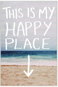 McGaw Graphics This is My Happy Place (Beach) by Leah Flores (Framed Print)