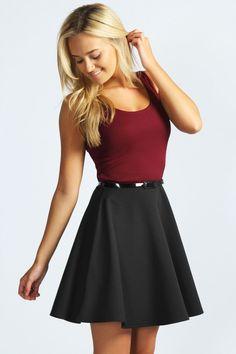 Contrast Belted Dress