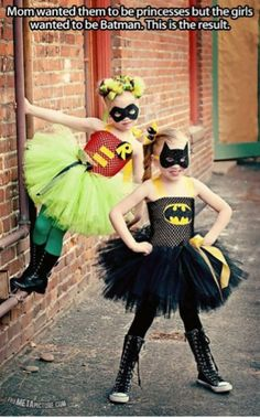 Superheroes with a twist  But WHY would the mom prefer them to be princesses?! Good grief! | Gary's niece actually decided that she is going to be a Ninja Turtle Princess this Halloween.