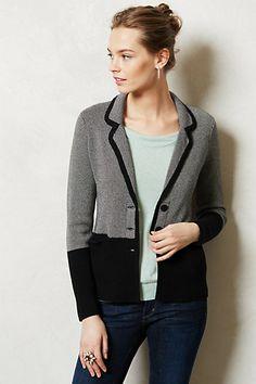 prepping my list for next week's sale: Birdseye Sweater Blazer #anthropologie