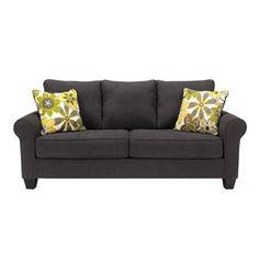 Nebraska Furniture Mart – Ashley Nolana Queen Sofa Sleeper in Charcoal