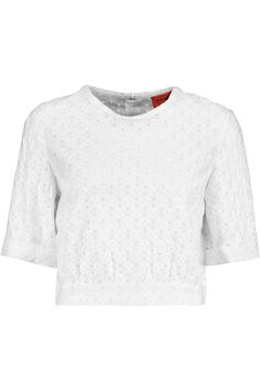 Cropped crochet-knit top | Missoni | 70% off | UK | THE OUTNET