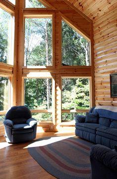 Log Cabin House Plan chp-51570 at COOLhouseplans.com