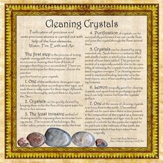 Printable Book Of Shadows Pages | Cleaning Crystals, Book of Shadows by *Brightstone on deviantART