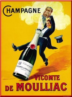 """GreatBigCanvas """"Champagne Vicomte De Moulliac"""" by Art Licensing Canvas Wall Art – The Home Depot 'Champagne Vicomte De Moulliac' by Art Licensing Canvas Wall Art, Multi-Color Vintage Champagne, Vintage Wine, Vintage Labels, Vintage Ads, French Vintage, Champagne Images, French Wine, Vintage Food, Vintage Graphic"""