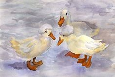 Where Did You Get Those Hats? by Sharon Allen Watercolor ~ 8 x 10