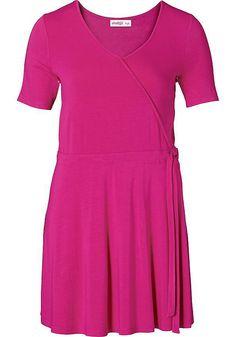 Sheego Style Wickelkleid aus 95% Viskose, 5% Elasthan....