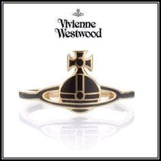 Vivienne Westwood 指輪・リング 【新作】*Vivienne Westwood*ブラック×ゴールドオーブ リング