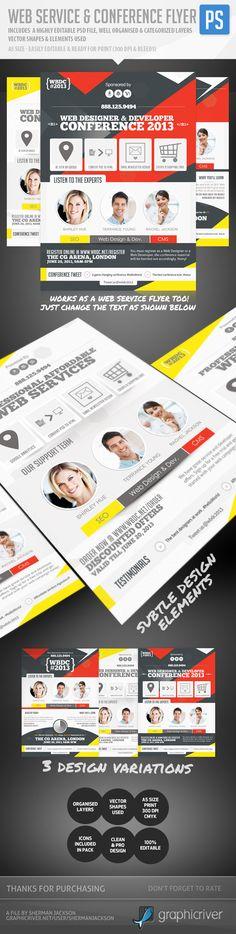 Web Service & Conference Flyer by Sherman Jackson, via Behance