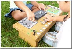 Make a control panel with your kids! Indoor or outdoor fun.