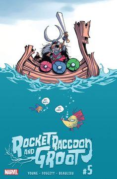 Rocket Raccoon and Groot (Cover Artist: Skottie Young) Release Date: Rocket Raccoon, Racoon, Skottie Young, Comic Book Artists, Comic Artist, Comic Books, Jay P, Baby Marvel, Marvel Marvel