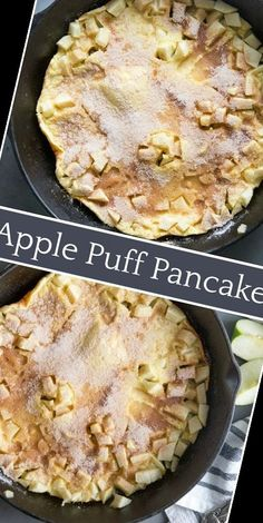 A delicious choice for a weekend breakfast!#Pancake #Recipe #Apple #Puff Pancake Recipe For One 37+ Apple Puff Pancake   Pancake Recipe For One Year Old   2020 Puff Pancake, Meals For One, Apple Pie, Pancakes, Breakfast, Easy, Desserts, Recipes, Food