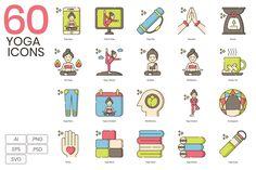 60 Cute Yoga Icons Inhale Exhale Inhale and Exhale Empty your mind and relax Release your restlessne hellip icons lifestyle icons bra and pants yoga ball chair