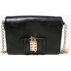 FOREVER 21 Spiked Bow Crossbody ($28) via Polyvore