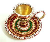 Indian Handmade Coffee Tea Cup Saucer Set Brass Decorated Kitchen Ware Tea Cup Set, My Cup Of Tea, Cup And Saucer Set, Tea Sets, Tea Cup Saucer, Teapot Cookies, Antique Tea Cups, China Cups And Saucers, Kitchen Ware