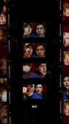 Exo Chen, Park Chanyeol, Black Aesthetic Wallpaper, Aesthetic Wallpapers, Exo Merch, Sehun Cute, Exo Ot12, Hunhan, Exo Lockscreen