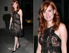 Jessica Chastain In Elie Saab – 'A Most Violent Year' New York Screening
