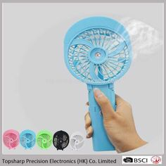 Portable Handhold Water Mist Fan 2in1 Functions Powerful Fan Mini Outdoor Water Cooling Spray Fan Humidification Fan Rich And Magnificent Fans