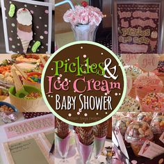 Baby Shower Decorations Baby Shower Favor Bags Pickles and Ice Cream Baby Shower Party Decor Baby Shower Pickles and Ice Cream